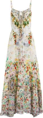 Camilla Time After Time Tie Front Maxi Dress
