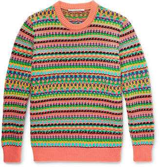 Stella McCartney Fair Isle Virgin Wool And Cotton-Blend Sweater