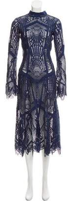 Jonathan Simkhai Long Sleeve Lace Dress