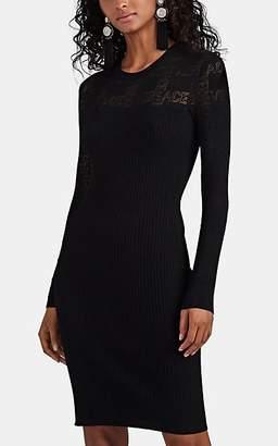 Versace Women's Logo Compact Knit Minidress - Black