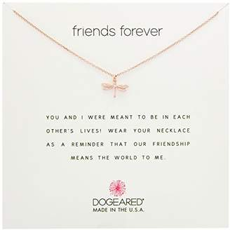 Dogeared Friends Forever Dragonfly Chain Necklace