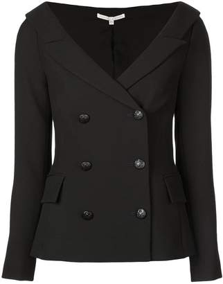 Veronica Beard open v-neck collar blazer