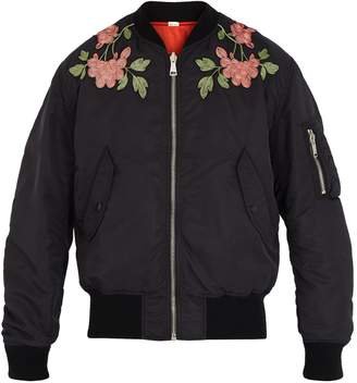 Gucci Floral-embroidered reversible bomber jacket