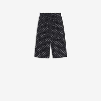 Balenciaga Boxer Shorts in black and white mini BB printed cotton poplin