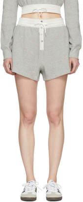 Alexander Wang Grey Heavy Waffle Gym Shorts