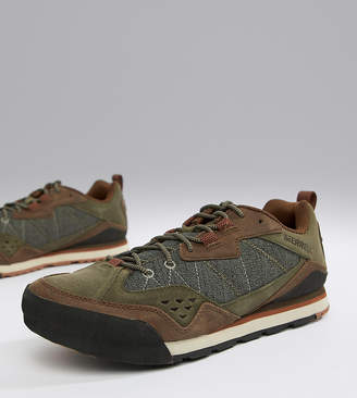 Merrell Burnt Rock festival sneakers in olive
