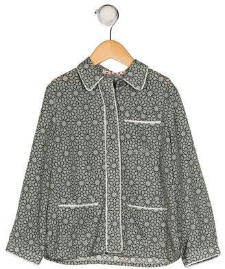 Marni Junior Girls' Printed Button-Up Top