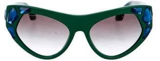 Prada Oversize Embellished Sunglasses