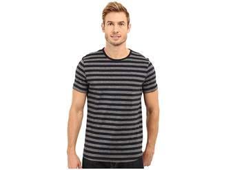 Kenneth Cole Sportswear Short Sleeve Marled Stripe Crew Men's Short Sleeve Knit
