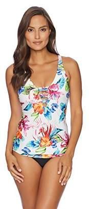 Athena Women's Plunge Neckline Swimsuit Tankini Top