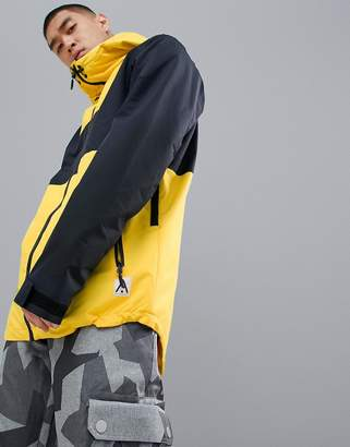 Wear Colour Wear Color Block Jacket in Yellow/Black