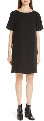 Eileen Fisher Bateau Neck Silk Dress