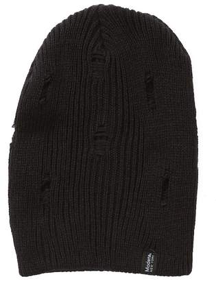 Modena Distressed Ribbed Knit Beanie
