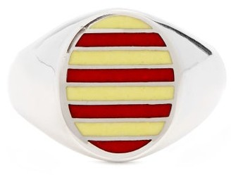 Jessica Biales - Enamel & Sterling Silver Ring - Womens - Yellow