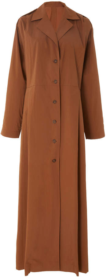 Bouguessa Light Cotton-blend Long Trench