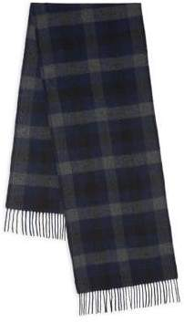 Theory Novelty Cashmere& Wool Plaid Scarf
