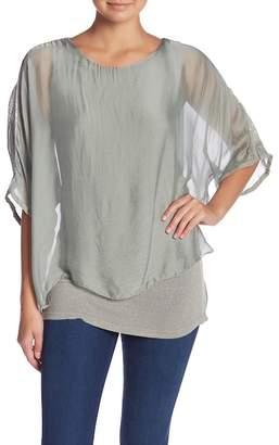 Tempo Paris Long Sleeve Silk Blouse