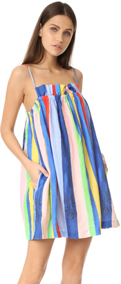 Mara Hoffman Gathered Mini Dress $325 thestylecure.com