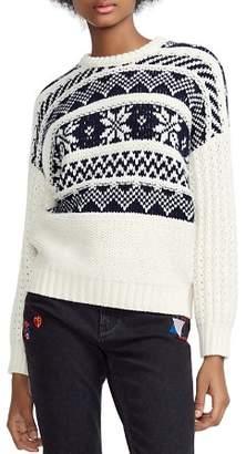 Maje Mockoon Geo-Pattern Sweater