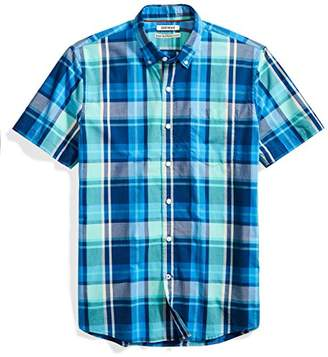 Goodthreads Men's Standard-Fit Short-Sleeve Large-Scale Plaid Shirt
