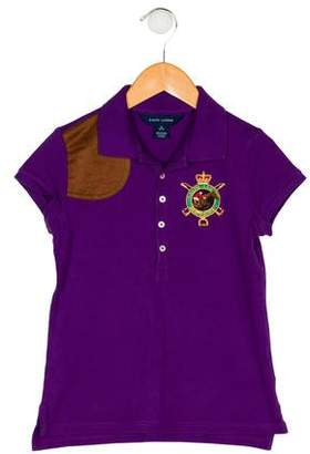 Ralph Lauren Girls' Short Sleeve Top