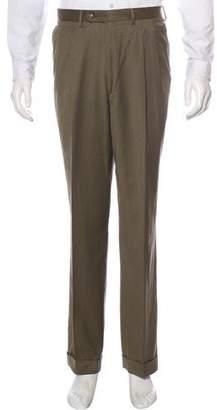 Luciano Barbera Pleated Wool Dress Pants