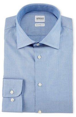 Armani Collezioni Modern-Fit Textured Solid Dress Shirt, Light Blue $275 thestylecure.com