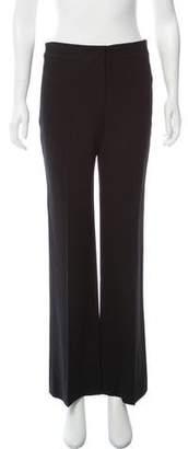 Agnona Wool Mid-Rise Wide-Leg Pants