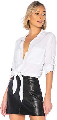 Bella Dahl White Out Tie Front Button Down