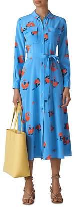 Whistles Elfrida Floral Silk Dress