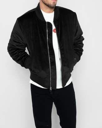 7 For All Mankind Micro Cord Bomber in Black