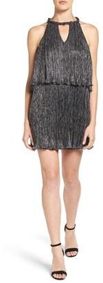 Ella Moss Metallic Popover Shift Dress $228 thestylecure.com