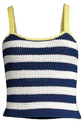 STAUD Women's Capo Stripe Knit Tank Top