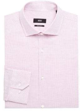 HUGO BOSS Regular-Fit Micro-Print Dress Shirt