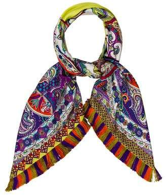 Etro Printed Silk Scarf