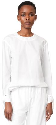 DKNY Tie Closure Blouse $198 thestylecure.com