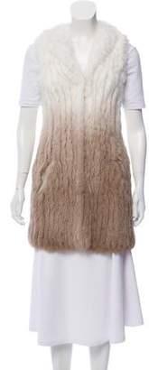 Alice + Olivia Bicolor Fur Vest