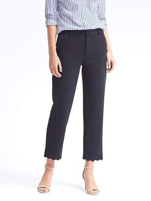 Avery-Fit Scallop-Hem Pant $98 thestylecure.com