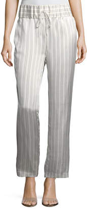 Maggie Marilyn Silk Somewhere Striped Drawstring Pants
