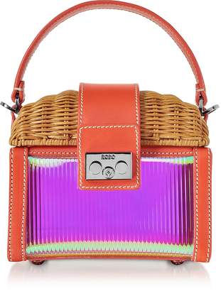 Rodo Natural Wicker and Leather Mini Bag