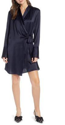 Nordstrom Something Navy Tie Front Dress Exclusive)