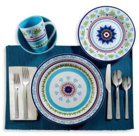 Euro Ceramica Marrakesh Ceramic Dinnerware- Set of 16