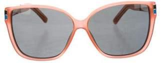 Oscar de la Renta x Linda Farrow Square Gradient Sunglasses