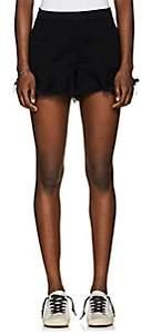 Blank NYC Blanknyc Women's Wedge Frayed Denim Shorts - Black Size 28