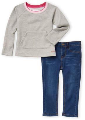 Hudson Toddler Girls) Two-Piece Lurex French Terry Sweatshirt & Jeggings Set