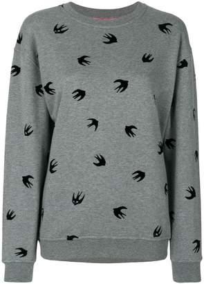 McQ flocked swallow sweatshirt