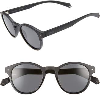 Polaroid Eyewear 49mm Polarized Round Sunglasses