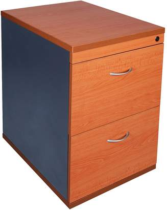 Express Acclaim Link Filing Cabinets & Storage Cherry 2 Drawer Filing Cabinet, Small