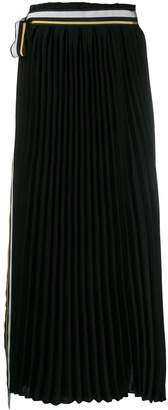 A.F.Vandevorst Saddle pleated maxi skirt