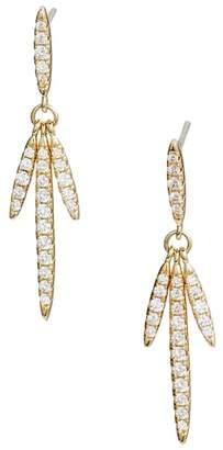 Nordstrom Pave Fringe Linear Earrings